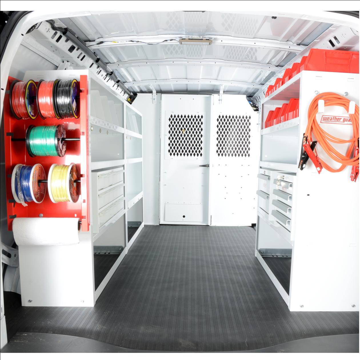 Electrical Package for Full Size Van Welded Shelving
