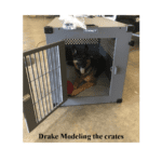 Drake is modeling the Crate before it is installed