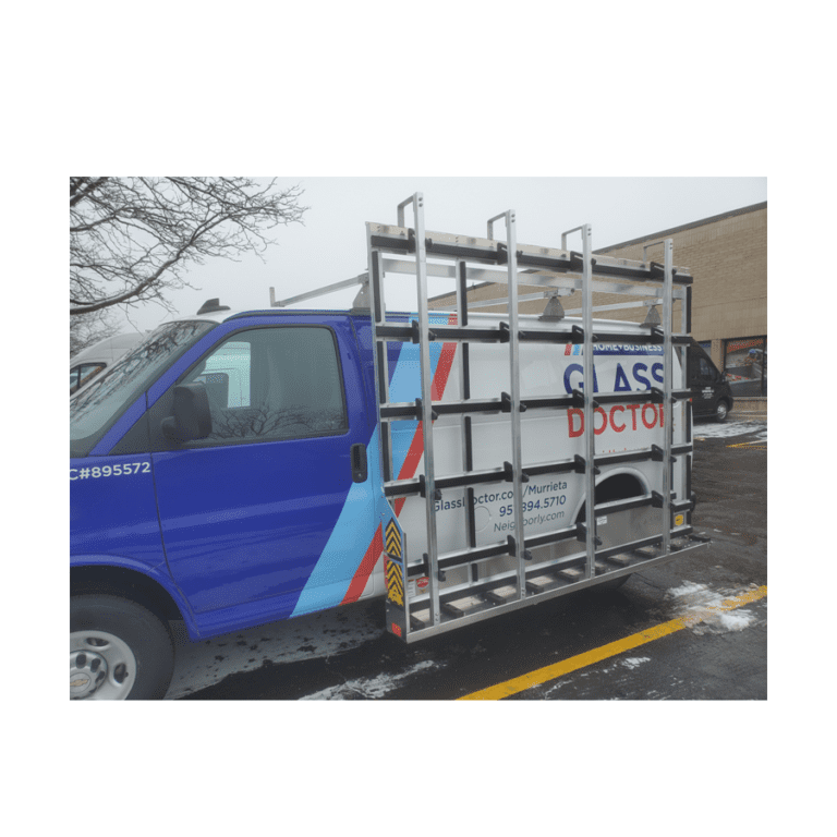 Exterior-Mounted Glass Rack